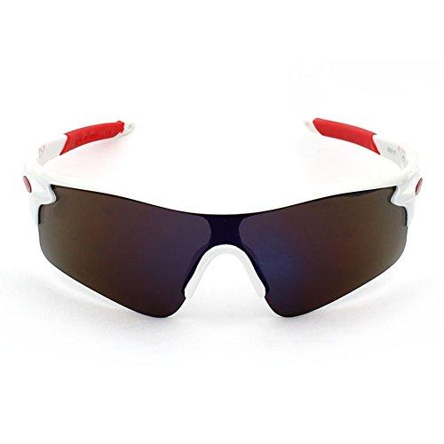 Wakerda Outdoor-Sonnenbrille Mode-Design für Männer und Frauen polarisierte Sonnenbrille Urlaub, Sport, Outdoor-Aktivitäten Sonnenbrillen Size 68×44mm (Schwarz)