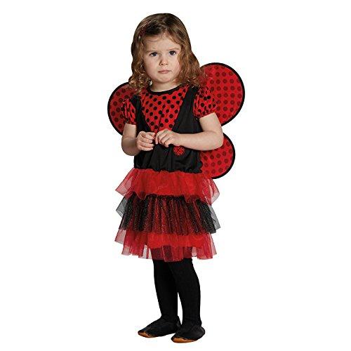 Kleinkind Marienkäfer Kostüm Mädchen - Rubie's NEU Kinder-Kostüm Marienkäfer mit Flügeln, Gr. 116