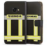 DeinDesign Samsung Galaxy XCover 4 Tasche Leder Flip Case Hülle Feuerwehr Feuerwehrmann Firefighter