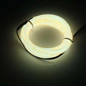 Lerway Câble lumineux LED flexible 3m Pour décoration, maison, vélo, jardin, cuisine, chambre, bain, bar, camping, bande LED + boîtier régulateur Décoration de Noël, fête, Jardin, café, restaurant