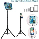BROLAVIYA Iceberg Makers Multi-Direction Tripod Floor Stand for 4'-10.1' inch, Compatible with iPad Galaxy Ipad, Tablet, Mobile PCs