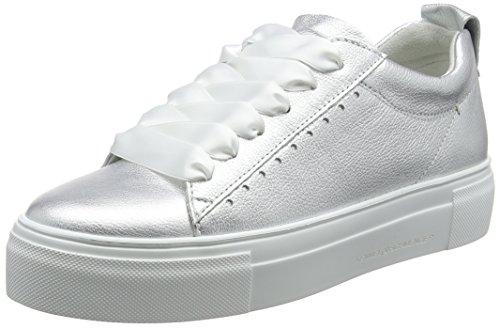 Grande Sneaker Da Donna Kennel E Schmenger Argento (suola Argento Chiaro Bianca)