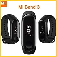 Xiaomi Mi Band 3 Bluetooth Activity Tracker, Waterproof Fitness Watch with Heart Rate Monitor, Pedometer & Messaging...