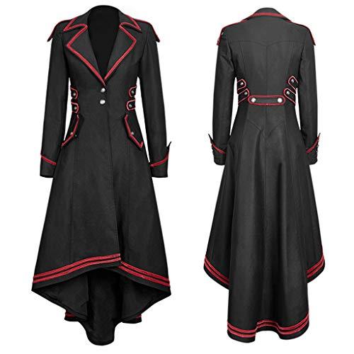 Wawer--Steampunk Gothic Long Coat,Dasongff Frack Mantel Retro Jacke Barock Punk Kleidung Vintage Viktorianischen Langer Cosplay Kostüm Smoking - Lieben Cosplay Kostüm