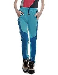 Lanbaosi Pantalon de Randonnée convertible Femme Pantalons Extérieure Imperméable Léger à Séchage Rapide Montages Couleurs