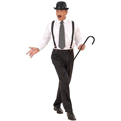 Spazierstock Charlie Chaplin Stock schwarz Gehstock als Kostüm Zubehör Krückstock Wanderstock (Charlie Chaplin Kostüm Kostüme)