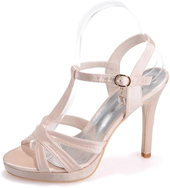 Elobaby Scarpe da Sposa da Donna 35-42 T-Strap Sandals Party Party Party Elegante da Damigella d'Onore Pumps Dress   11cm... | Il colore è molto evidente  | Sig/Sig Ra Scarpa  e3e64f