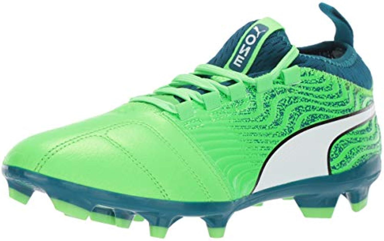 PUMA Men's One 18.3 FG scarpe da ginnastica, verde Gecko bianca-Deep Lagoon, 13 M US | Materiali Di Qualità Superiore  | Uomo/Donne Scarpa