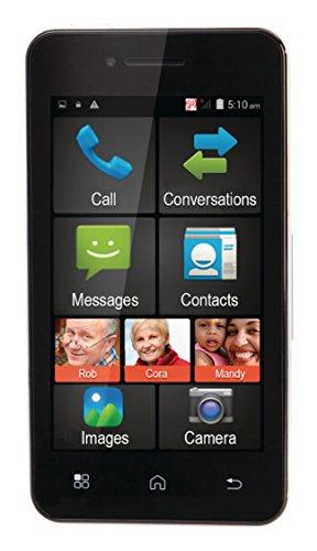 Eurosell - Premium Großtasten Smartphone Androud Handy Senioren Handy + SOS Funktion - ohne Vertrag
