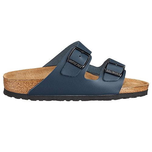 Birkenstock Womens Arizona Leather Sandals Blue