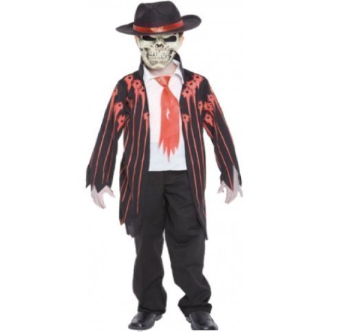 CHILDRENS BOYS MAD MOBSTER PIMP HALLOWEEN FANCY DRESS COSTUME OUTFIT 7-9Y 028375 by palmer (Kostüm Pimp Zubehör Hut)