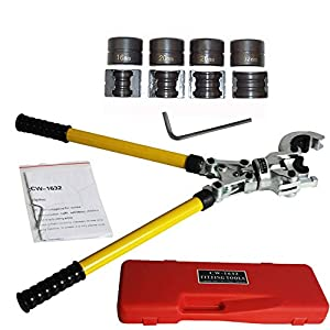 Presszange TH-Kontur Rohrpresszange mit 16-32mm Pressbacken für Verbundrohr PEX Qualität