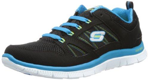 Skechers Flex Appeal - Spring Fever - Zapatillas de deporte para mujer, color negro, talla 37