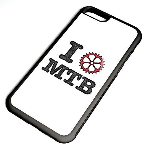 Smartcover Case I love MTB vintage z.B. für Iphone 5 / 5S, Iphone 6 / 6S, Samsung S6 und S6 EDGE mit griffigem Gummirand und coolem Print, Smartphone Hülle:Iphone 6 / 6S schwarz Iphone 6 / 6S schwarz