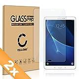 Cellonic 2X Panzerglasfolie kompatibel mit Samsung Galaxy Tab A 10.1 (SM-T580 / SM-T585) (2.5D abgerundete Kanten, 9H, 0,33mm, Full Glue) Glas Transparent Displayschutz Schutzglas Tempered Glass