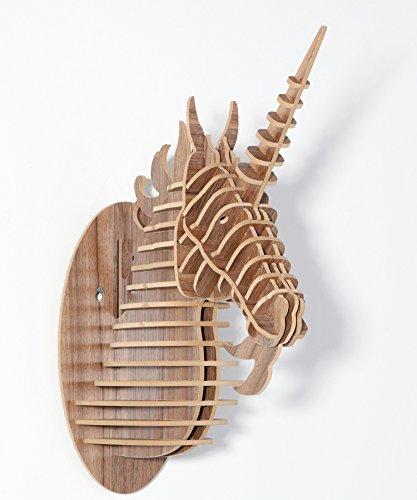 PinWei@ Legno creativo nordico testa di cavallo unicorno forma pendenti