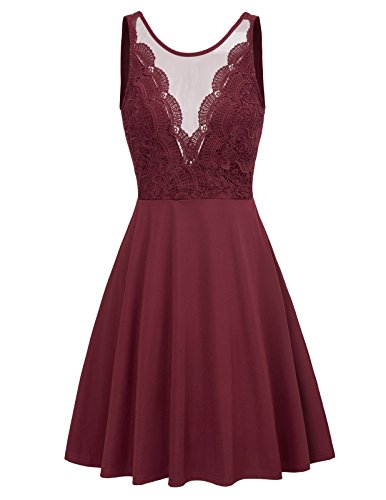 GRACE KARIN 1950s Retro Vintage Rockabilly Kleid Cocktail Swing Party Kleider Sommerkleid L CL453-2