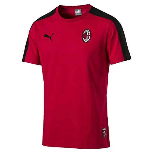 PUMA AC Milan Herren T7 T-Shirt Tango Red-Puma Black M
