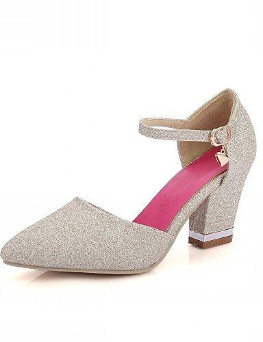 WSS 2016 Chaussures Femme-Mariage / Bureau & Travail / Habillé-Violet / Rouge / Or-Gros Talon-Talons-Talons-Similicuir red-us7.5 / eu38 / uk5.5 / cn38