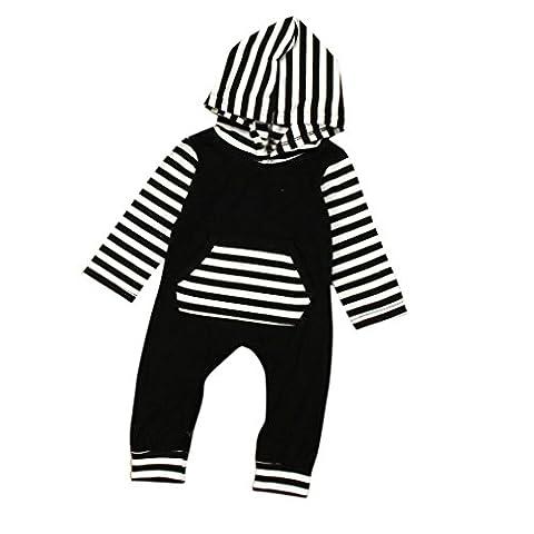 IGEMY - Sweat-shirt à capuche - Bébé (garçon) 0 à 24 mois bleu bleu - noir - 12 mois