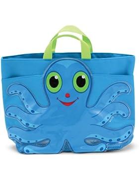 Melissa & Doug - Plastiktasche Tintenfisch Oktopus Strand Tasche Kindertasche