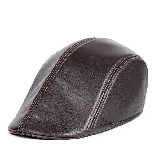 HX fashion Herren Moderne Zeitungsjungen Hut Taxifahrer Gatsby Flacher Bequeme Größen Golfhut Kopfbedeckung Mode Männer Kleidung (Color : Braun, Size : L)