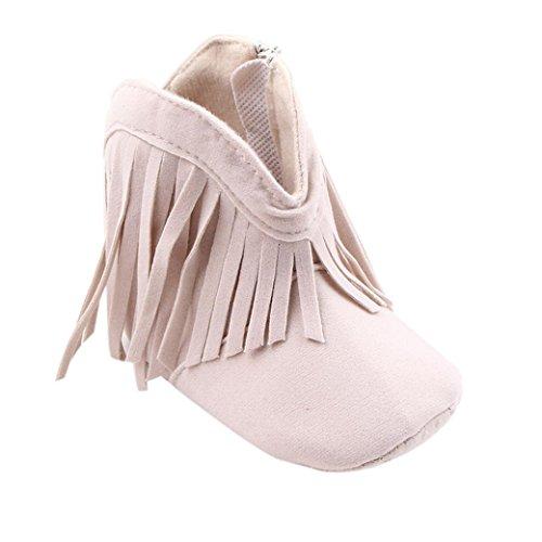 Fulltime® Bébé Tassel Toddler Chaussures Semelles souples Bottes Prewalker