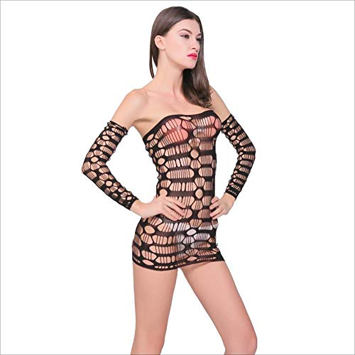 MYMAO Women es Sexy Underwear, Siamese Underwear Sexy Mesh Lace Tights Perspective Set - Sexy Lace Bodice