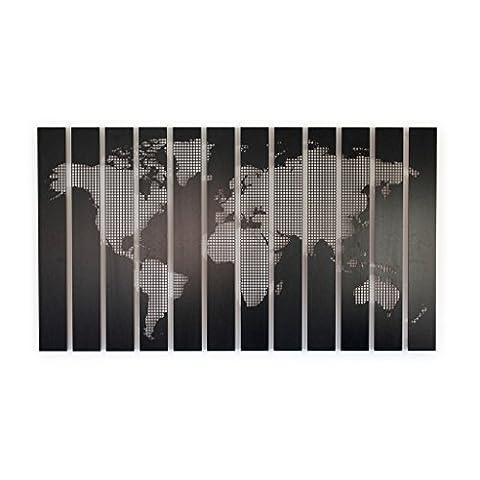 Motorize - Pinnwand - Bild aus echtem Holz - Weltkarte, Wandkalender (2 verschiedene Größen) - Laserdruck - 5 Motive zur Auswahl - Weltkarte klein, 1,42m x