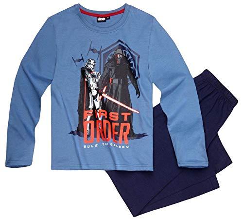 Star Wars Pyjama Lang Jungen Schlafanzug Kylo Ren (Blau, 128)