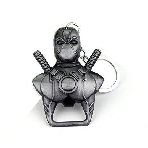 Deadpool Flaschenöffner Schlüsselanhänger Marvel Superhelden (Silber)