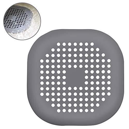 Zorara Abflusssieb für Duschen, Waschbecken Filter, 2 STÜCKE Waschbecken Sieb Silikon Drain Sieb Kanalfilter Wasser Stopper für Küche Bad (Schwarz und weiß 2psc)