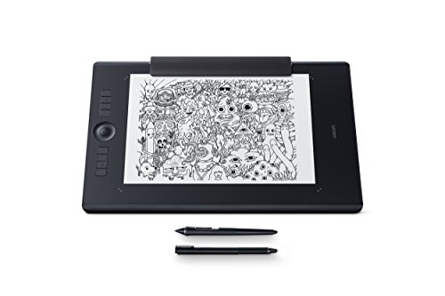 Wacom Pthp-860-S Intuos Pro Paper Tavoletta Grafica con Penna Sensibile alla Pressione Fino a 8000 Livelli, Funzione Di Digitalizzazione Arte Creata Su Carta, Taglia L