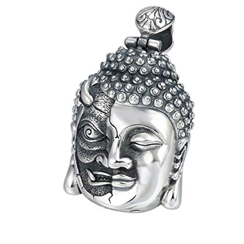 L&H Sterling Silber Anhänger Thai Silber Buddha Magic buddhistischen Ping Schmuck Kette Männer und Frauen,Singlependant