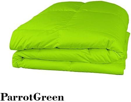 600TC Italian Finish 1 PC 300 gsm gsm 300 Fiber Fill Comforter  4 PC Sheet Set (Fino a 55,9 cm Tasca Profonda) Parrosso verde Tinta Unita Euro King Ikea Dimensione 100% Cotone Egiziano – by Paradise Oltremare 66550a