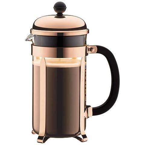 Bodum CHAMBORD Coffee Maker, 1.0 L, 34 oz - Copper