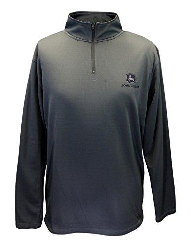 John Deere Herren Pullover Fleece Anthrazit Quarter Zip - Schwarz - X-Groß Athletic Mesh Pullover