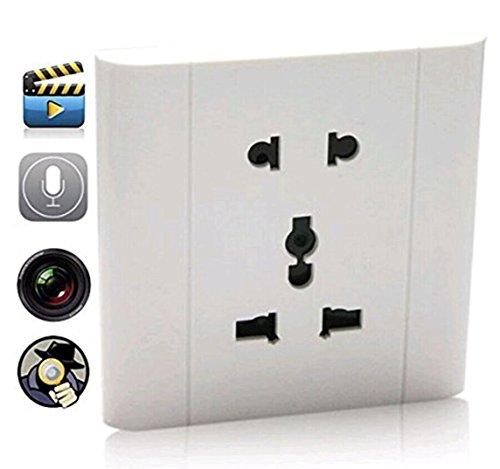 WEIDE - Spia Cam la parete presa nascoste Covert videoregistratore della macchina fotografica vocale Surveille presa Spy Cam DVR fotocamera