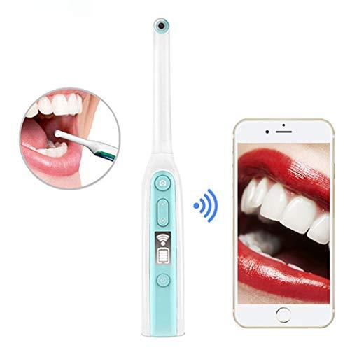HWENJ WiFi Handprüfungs Oral Endoskop 2.0MP 8 Verstellbaren LED-Leuchten Wasserdicht Zähne Hygiene Tool Mundinspektionsset Munddetektor Zahnendoskop Mundendoskop Für IOS/Android/Tablet (Tab Helle Tablet Android)