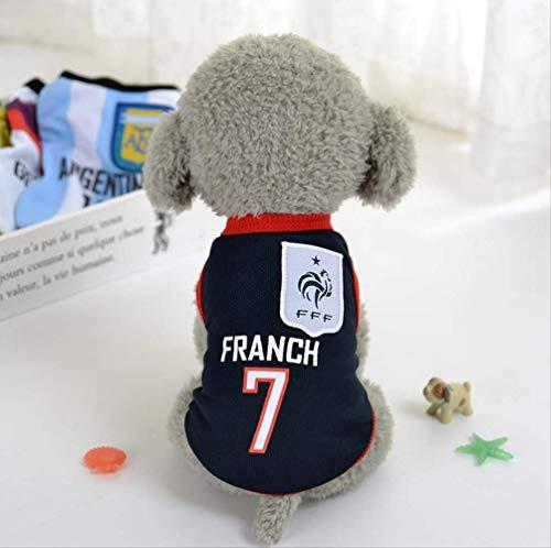 UD-strap Pet Jersey Football Licensed Dog Jersey, Dog Clothes Football T-Shirt Dogs Kostüm National Soccer World Cup, Outdoor Sportswear Summer Breathable 5XL B (Jubeln Kostüm Mädchen)