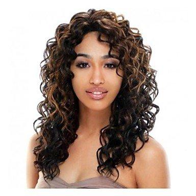 Perruque & xzl Perruques Fashion la mode mélange de couleur synthétique freeshipping cheveux bouclés perruques de longue femme