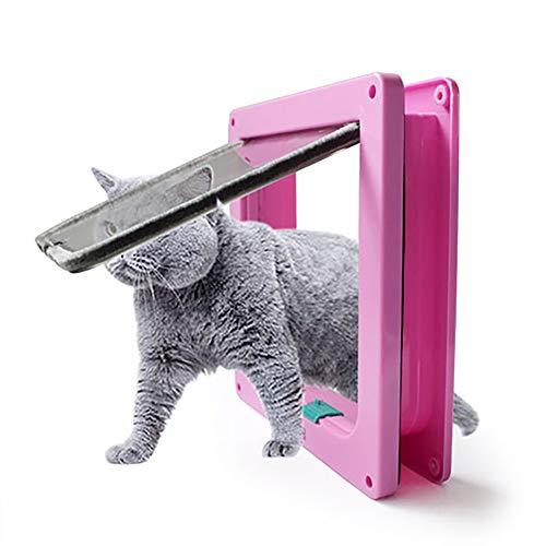 FXQIN Puerta abatible para Gatos, Kit de 4 Puertas de Bloqueo magnético Inteligente para Mascotas, Gatitos y Gatitos, fácil instalación, Exterior fácilmente,S