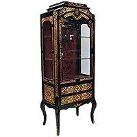 Comparador de precios Casa-Padrino Baroque Boulle Display Cabinet - Handcrafted from Solid Wood - Baroque Display Case - precios baratos