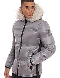 1807d70e4 4Bidden Atlantic Grey Quilted Hooded Puffer Jacket
