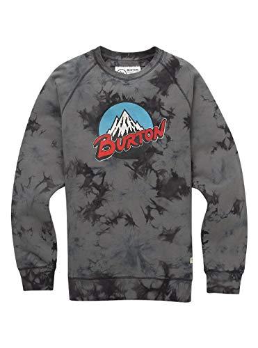 Burton Herren Retro Mountain Organic Crew Sweatshirt, Phantom Tie Dye, XL - Herren-xl Tie Dye