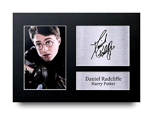 Daniel Radcliffe Los Regalos Firmaron A4 la Dedicatoria Impresa Harry