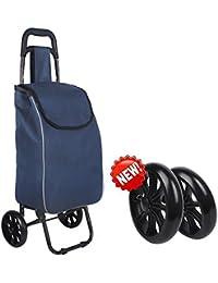 Carrello per la spesa leggero Carrello pieghevole per bagagli pieghevole con ruote Shopper per Go Up e Down Scale 6 ruote, B