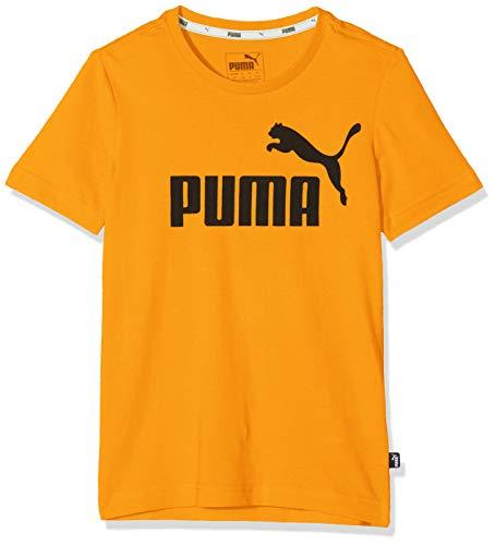 Puma Jungen ESS Logo Tee B T-Shirt, Sunflower, 116
