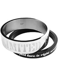 D&G - DJ0581 - Bracelet Femme - Acier - Noir/Argent
