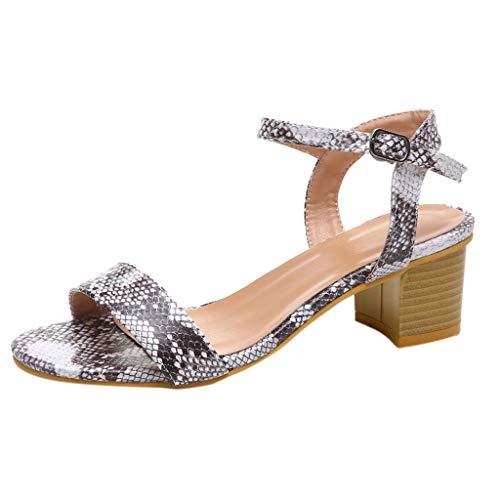 ❤Eaylis Damen Sandalen EIN-Wort-Schnalle Sommer Strand Schuhe Hausschuhe Stilvoll und elegant